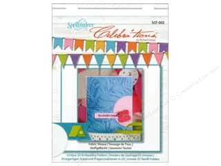 "Embossing Aids 4"": Spellbinders Embossing Folder Celebrat'tions Fabric Weave"