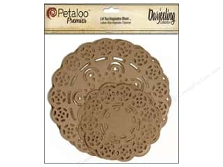 Petaloo $3 - $4: Petaloo Darjeeling Doilies Craft Brown