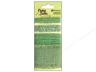 Petaloo Fancy Trims Burlap Trim Green