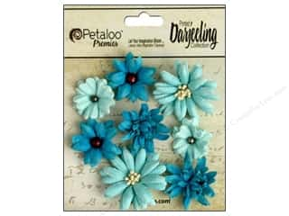 Flowers / Blossoms Blue: Petaloo Darjeeling Mini Mix Teastain Teal