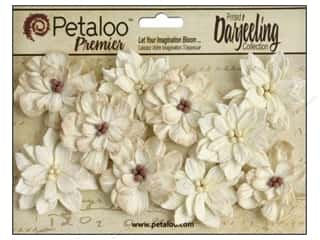 Floral Arranging Scrapbooking & Paper Crafts: Petaloo Darjeeling Dahlias Teastain Cream