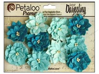 Flowers / Blossoms Blue: Petaloo Darjeeling Dahlias Teastain Teals