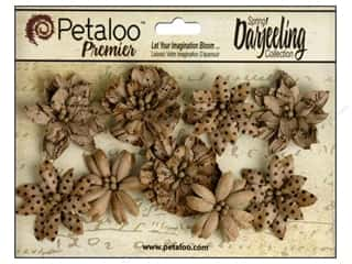 Flowers / Blossoms Craft & Hobbies: Petaloo Darjeeling Wild Blossom Medium Craft Brown