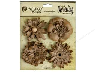 Flowers / Blossoms Craft & Hobbies: Petaloo Darjeeling Wild Blossom Large Craft Brown