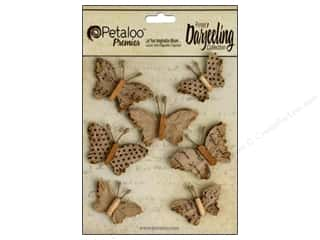 Floral Arranging Scrapbooking & Paper Crafts: Petaloo Darjeeling Wild Butterflies Craft Brown
