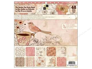 Fall Sale Scrapbooking & Paper Crafts: Die Cuts With A View 12 x 12 in. Cardstock Stack The Garden Tea Party