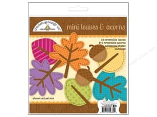 Fall / Thanksgiving Papers: Doodlebug Friendly Forest Die Cut Leaves & Acorns