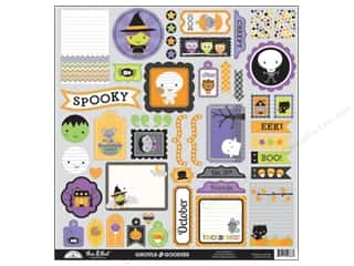 Doodlebug Ghouls & Goodies Stickers This & That (12 sheet)