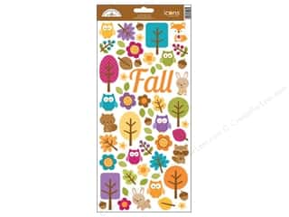 Captions Fall / Thanksgiving: Doodlebug Friendly Forest Sticker Icon