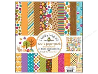 Captions Fall / Thanksgiving: Doodlebug Paper 12 x 12 in. Friendly Forest Paper Pack