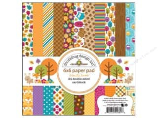 "Fall / Thanksgiving paper dimensions: Doodlebug Friendly Forest Paper Pad 6""x 6"""