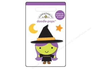 Children Black: Doodlebug Ghouls & Goodies Doodle Pops Wee Witch