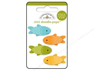 Doodlebug Dimensional Stickers: Doodlebug Happy Camper Doodle Pops Fishies
