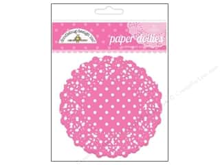 Holiday Sale: Doodlebug Embellishment Doilies Polka Dot Bubblegum