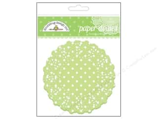 Paper Doilies Paper Die Cuts / Paper Shapes: Doodlebug Embellishment Doilies Polka Dot Limeade