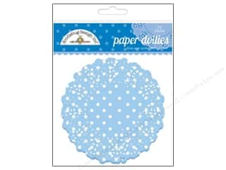 Holiday Sale: Doodlebug Embellishment Doilies Polka Dot Blue Jean