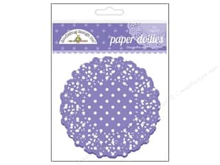 Paper Doilies Paper Die Cuts / Paper Shapes: Doodlebug Embellishment Doilies Polka Dot Lilac