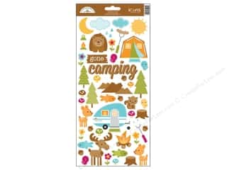 Doodlebug Happy Camper Stickers Icon (12 set)