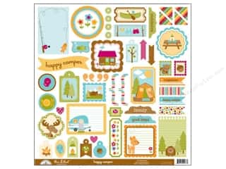 Doodlebug Happy Camper Stickers This & That (12 set)