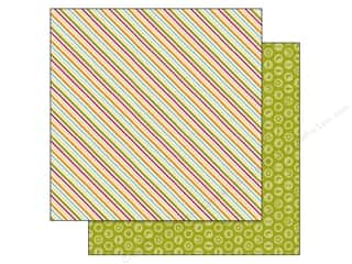 Doodlebug Outdoors: Doodlebug Paper 12 x 12 in. Happy Camper Summertime Stripe (25 pieces)