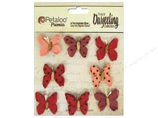 Floral Arranging Scrapbooking & Paper Crafts: Petaloo Darjeeling Mini Butterfly Teastain Red