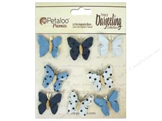 Floral Arranging Scrapbooking & Paper Crafts: Petaloo Darjeeling Mini Butterfly Teastain Blue