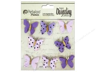 Floral Arranging Scrapbooking & Paper Crafts: Petaloo Darjeeling Mini Butterfly Teastain Purple