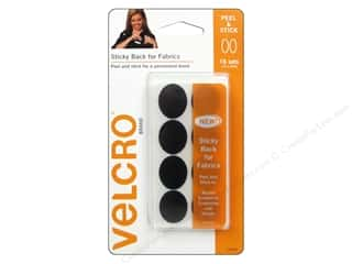 "VELCRO Sticky Back For Fabrics Oval 1"" Black 16pc"