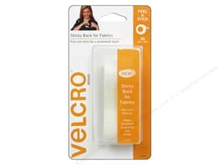 "Outdoors Velcro / Hook & Loop Tape: VELCRO brand Sticky Back For Fabrics Tape 3/4""x 2' White"