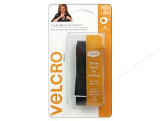 "VELCRO Sticky Back For Fabrics Tape 3/4""x2' Black"