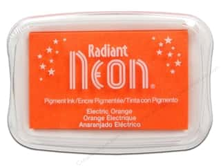 Inks Sale: Tsukineko Radiant Neon Pigment Ink Pad Large Electric Orange