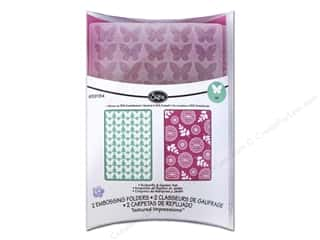 Embossing Aids Gardening & Patio: Sizzix Embossing Folders KI Memories Textured Impressions Butterfly & Garden