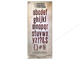 Dies ABC & 123: Sizzix Bigz XL Alphabet Die Block Talk Lowercase by Tim Holtz