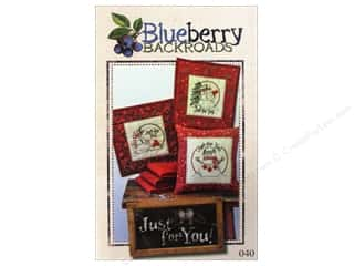 Straight Stitch Fat Quarters Patterns: Blueberry Backroads Just For You Pattern