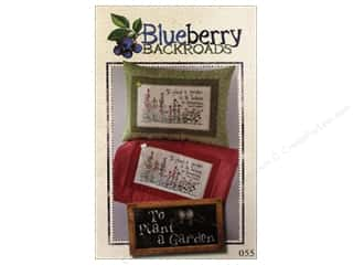 Straight Stitch Fat Quarters Patterns: Blueberry Backroads To Plant A Garden Pattern