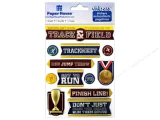 Sports Burgundy: Paper House Sticker 3D Chipoxy Track & Field