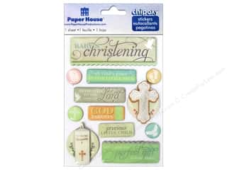 Paper House Sticker 3D Chipoxy Christening
