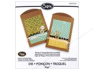 Scrapbooking Dies: Sizzix Dies Jillibean Soup Bigz Pocket With Scalloped Edge