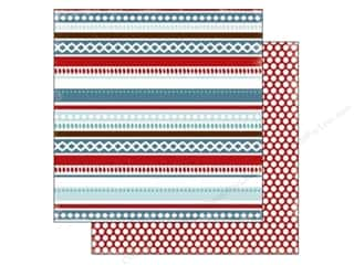 Carta Bella 12 x 12 in. Paper All Bundled Winter Stripe (25 piece)
