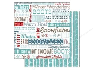 Carta Bella Winter: Carta Bella 12 x 12 in. Paper All Bundled Frosty Words (25 pieces)