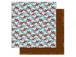 Carta Bella 12 x 12 in. Paper All Bundled Up Chevron (25 piece)