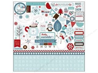 Caption Stickers / Frame Stickers: Carta Bella Sticker 12 x 12 in. All Bundled Up Element (15 set)