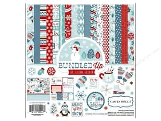Crafting Kits Winter: Carta Bella Collection Kit 12 x 12 in. All Bundled Up