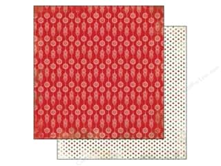 Carta Bella 12 x 12 in. Paper Red Ornaments (25 piece)