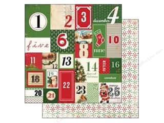 Carta Bella 12 x 12 in. Paper Countdown To Christmas (25 piece)
