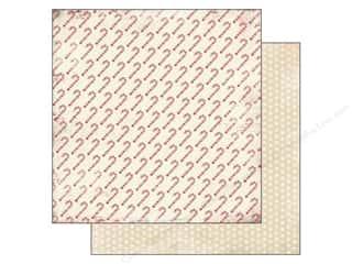 Carta Bella Printed Cardstock: Carta Bella 12 x 12 in. Paper Christmas Time Candy Canes (25 pieces)