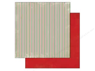 Carta Bella Christmas: Carta Bella 12 x 12 in. Paper Christmas Time Christmas Stripes (25 pieces)