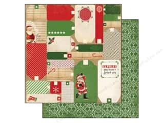 Carta Bella Carta Bella 12 x 12 in. Paper: Carta Bella 12 x 12 in. Paper Christmas Time Tags (25 pieces)