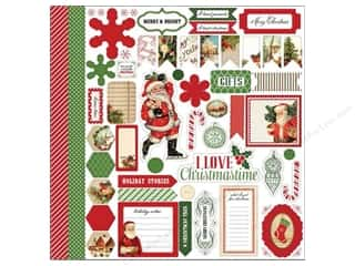 Carta Bella Christmas: Carta Bella Sticker 12 x 12 in. Christmas Time Element (15 sets)