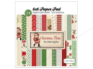 Carta Bella 6 x 6 in. Paper Pad Christmas Time